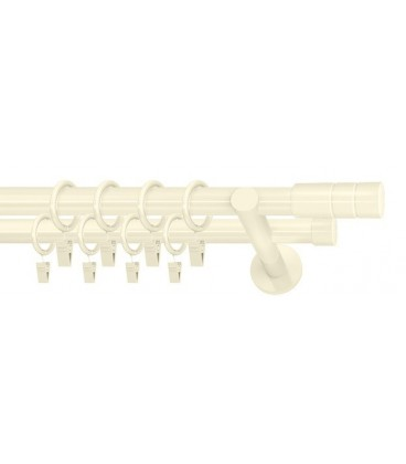 curtain rods ivory