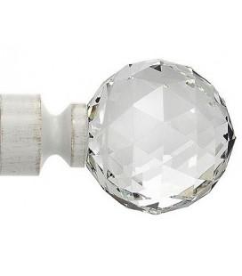Bastone Singolo Elegante crystallo bianco