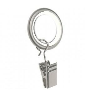 Silent Curtain Ring Chrome Matt