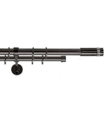 black curtain rods