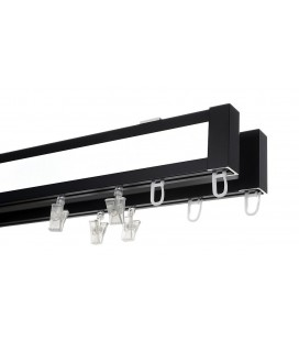 double aluminium curtain track