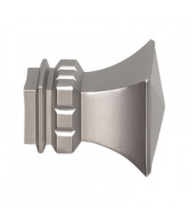 bastone doppio per tende cromo opaco
