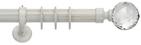 bastone per tende elegante bianche